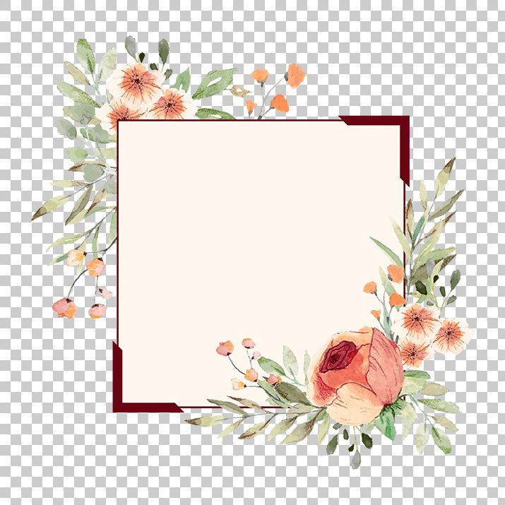 Clipart borders and frames free download svg Flower Border, Flower Frame PNG Image Free Download searchpng.com svg