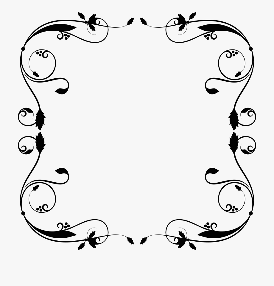 Clipart frames and borders free download graphic transparent library Free Download Simple Flourish Frame Svg Clipart Borders - Rama Cu ... graphic transparent library