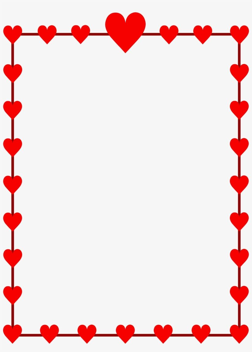 Free clipart valentines borders