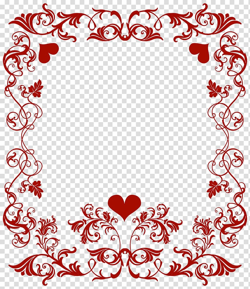 Valentines day photo frame clipart graphic library stock Red floral frame , Valentine\'s Day Heart , Valentine\'s Day ... graphic library stock