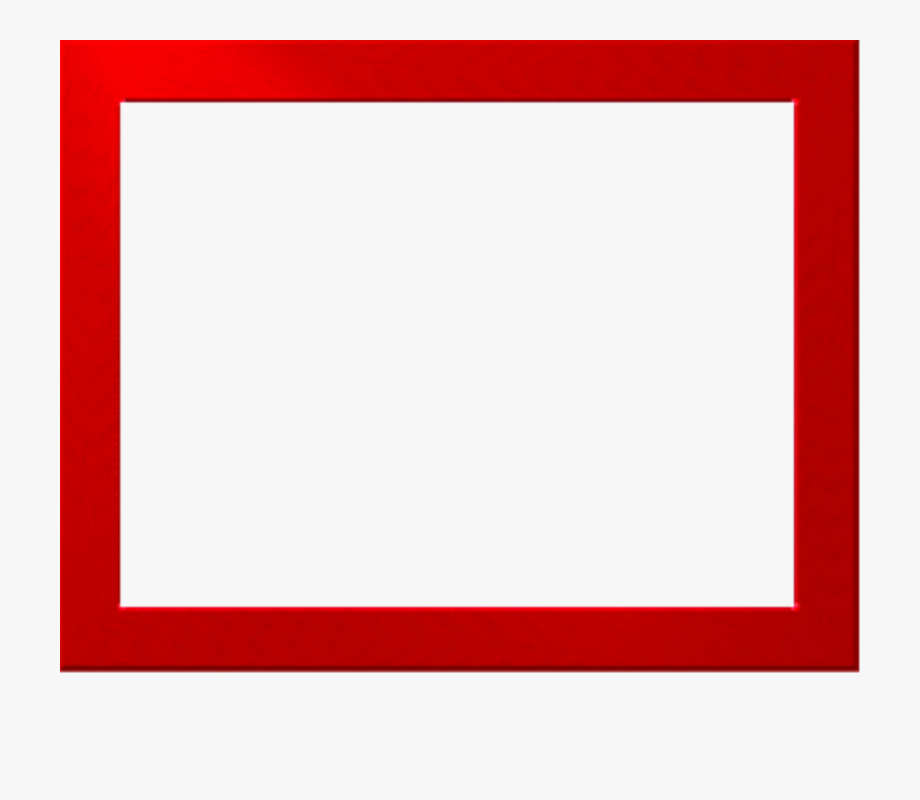 Red border clipart vector black and white library Red Border Frame Png Free Download - Square Frame Png Clipart ... vector black and white library