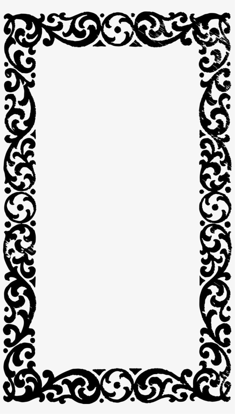 Photo frame border design clipart black and white library Download Vintage Frame Border Design Clipart Borders - Vintage Frame ... black and white library