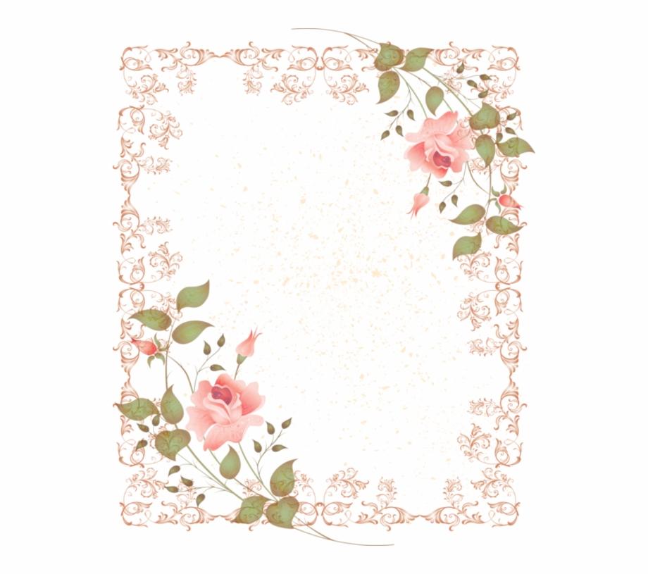Clipart borders vintage floral svg stock Vintage Flower Clipart Corner - Transparent Flower Borders Free Free ... svg stock