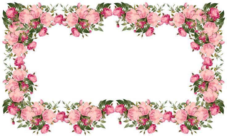 Clipart borders vintage floral image freeuse Free Flower Border Png, Download Free Clip Art, Free Clip Art on ... image freeuse