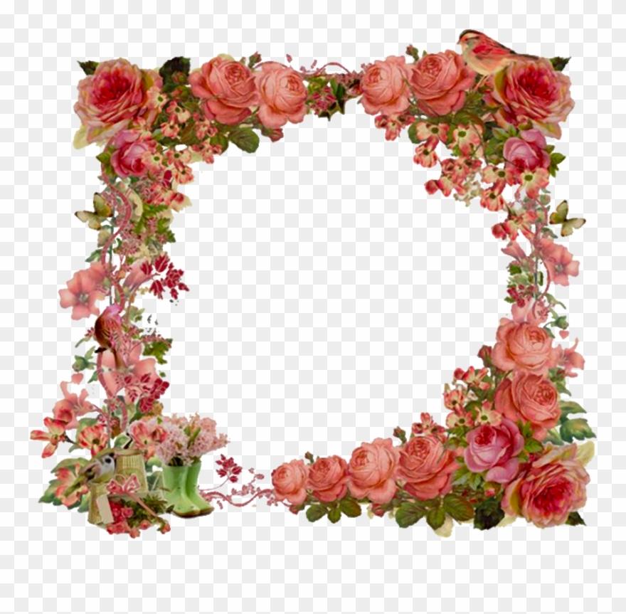 Clipart borders vintage floral clipart free download Vintage Flowers Border Clipart - Png Download (#3537968) - PinClipart clipart free download