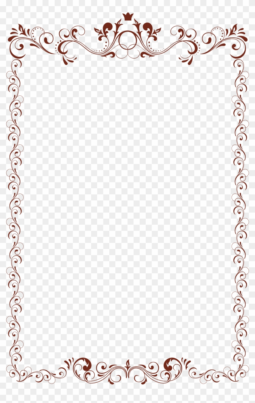 Clipart borderwith transparent background picture black and white Clip Art Vintage Border With Transparent Background - Frames Png For ... picture black and white