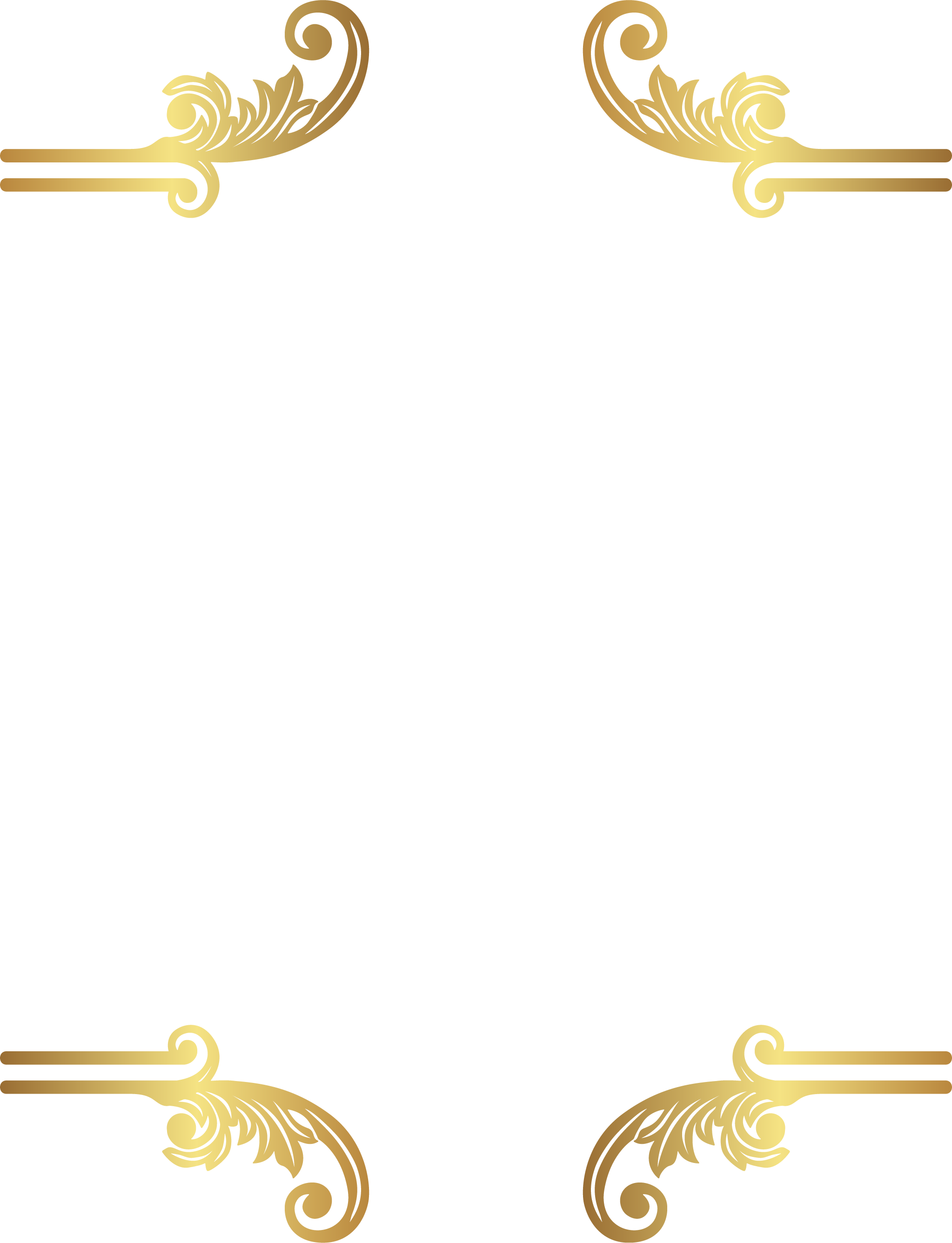 Clipart borderwith transparent background jpg transparent HD Decorative Border Clipart Png Image - Gold Borders With ... jpg transparent