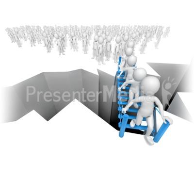 Clipart bottleneck royalty free Stick Figures Bottleneck On Bridge - Presentation Clipart - Great ... royalty free
