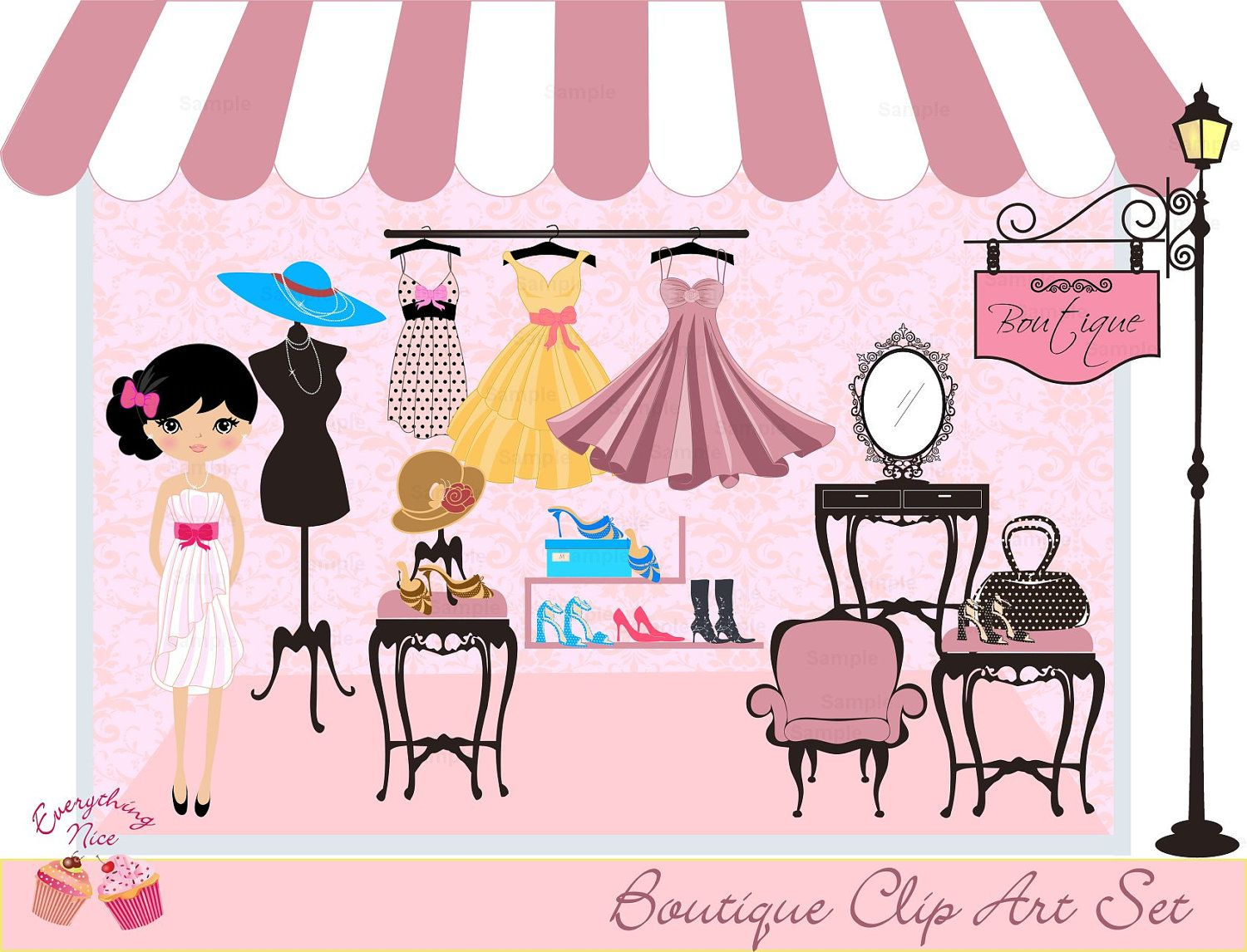 Magasin clipart svg free Boutique Clip Art Set | I ♥ Shopping | Clip art, Art, Things to sell svg free