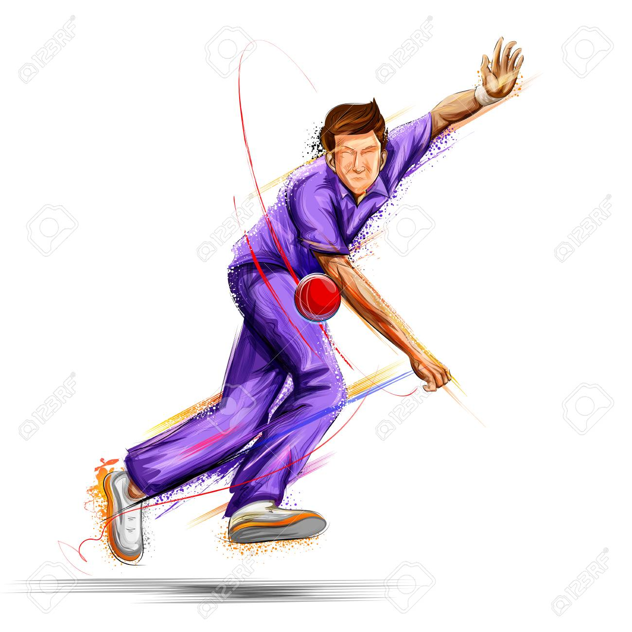 Clipart bowler graphic library Bowler bowling in cricket championship sports » Clipart Station graphic library