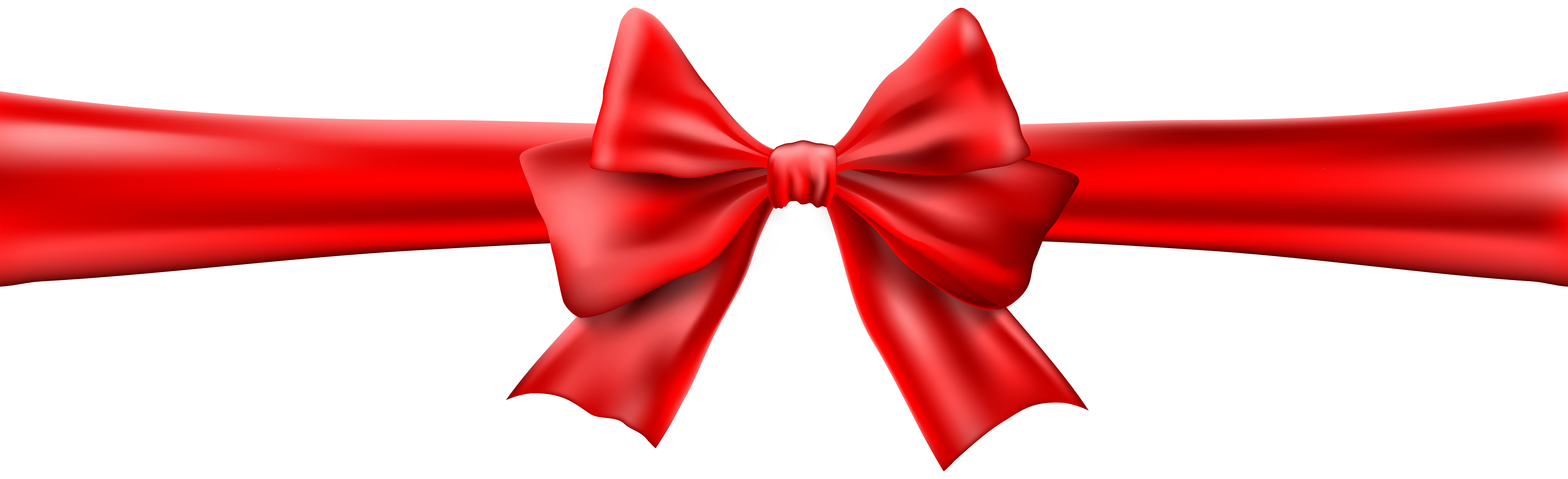 Clipart bows and ribbons jpg royalty free download Red Bow with Ribbon Clip Art Image | Gallery Yopriceville - High ... jpg royalty free download