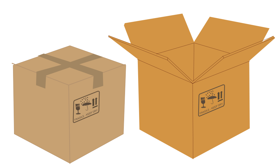 Clipart boxes image black and white library Boxes Clipart & Look At Clip Art Images - ClipartLook image black and white library