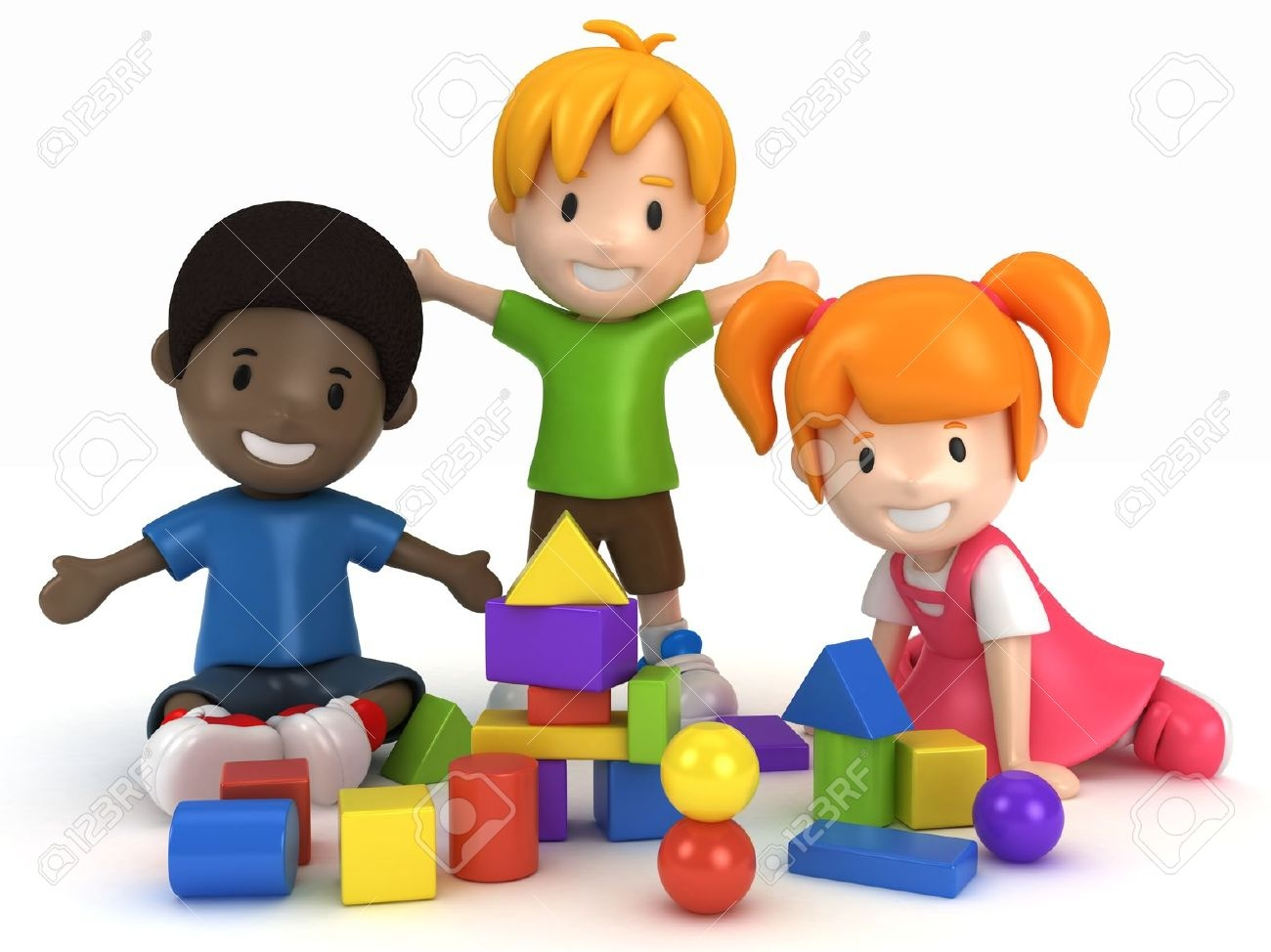 Kids clipartfest. Clipart boy building blocks