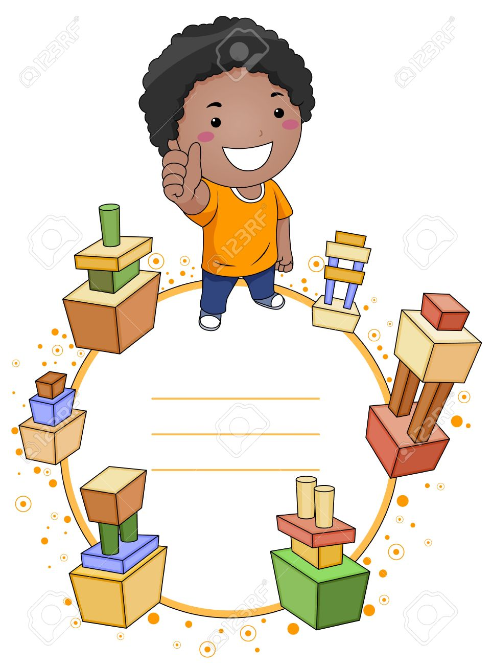 Clipartfest a smiling surrounded. Clipart boy building blocks