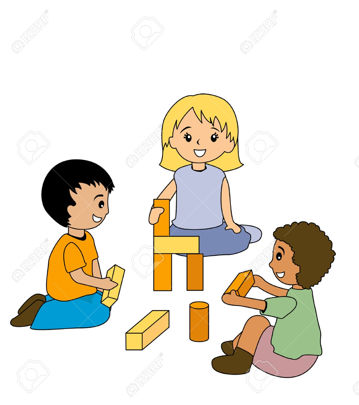 Kids clipartfest kidsplayingblocks . Clipart boy building blocks