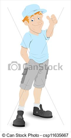 Clipart boy thumbs up graphic free library Clip Art Vector of Boy Thumbs Up Cartoon Character - Creative ... graphic free library