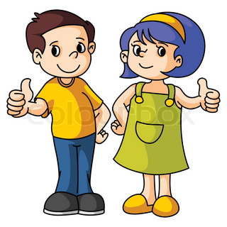 Kid clipartfox and girl. Clipart boy thumbs up