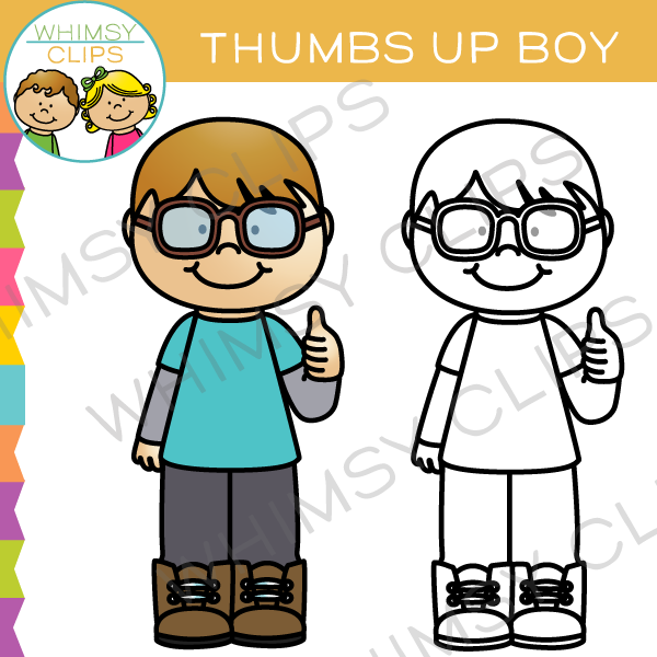 Clipart boy thumbs up. Clip art images illustrations