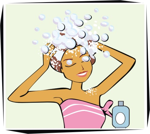 Clipart boy washing hair image library library Animated Washing Your Hair Clipart - Clipart Kid image library library