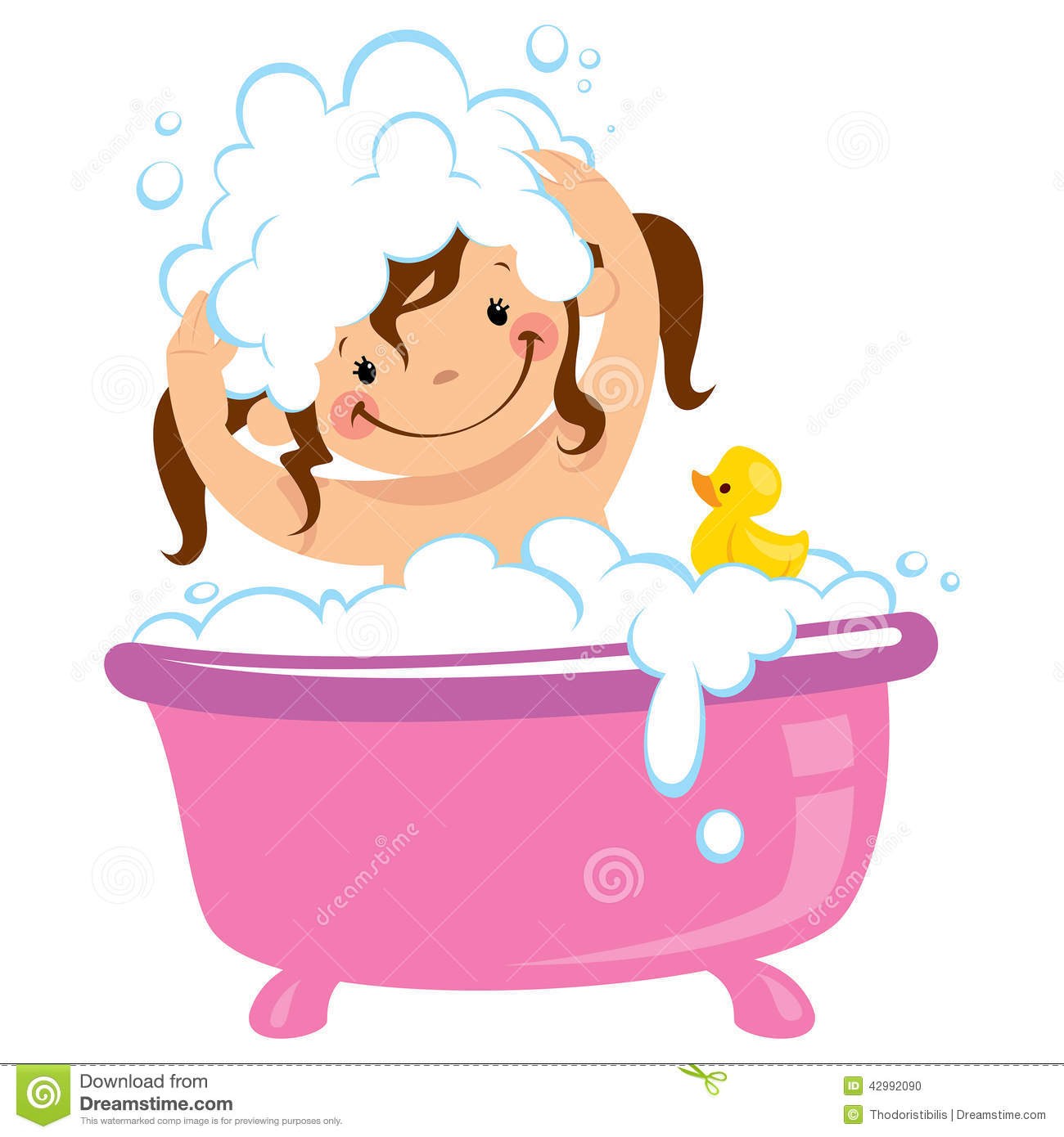 Animated your kid in. Clipart boy washing hair