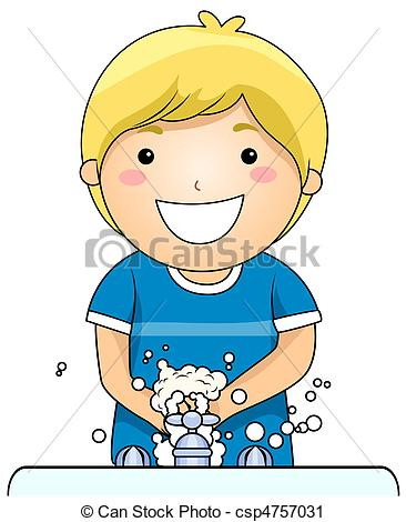 Clipart boy washing hair png black and white download Washing Stock Illustrations. 47,519 Washing clip art images and ... png black and white download