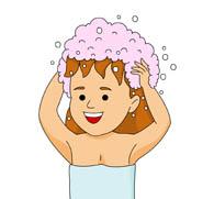 Free health clip art. Clipart boy washing hair