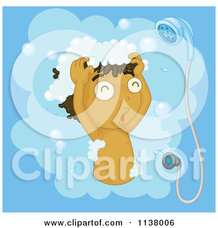 Royalty free rf illustrations. Clipart boy washing hair
