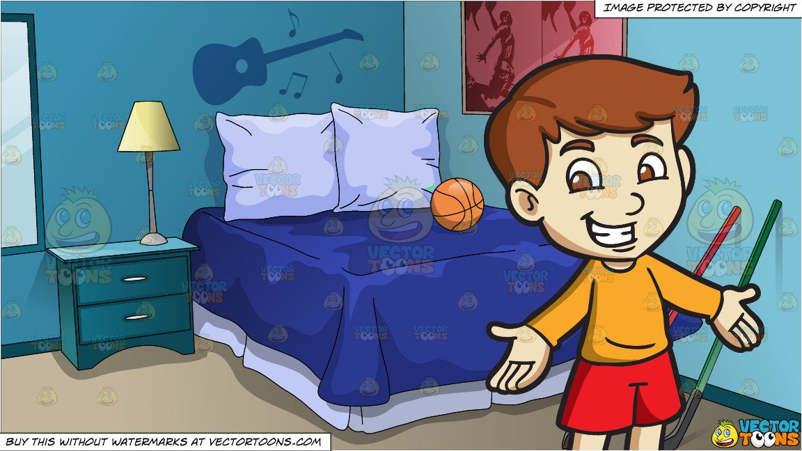Clipart boys bedroom banner freeuse A Cheerful Boy and Adolescent Boys Bedroom Background banner freeuse