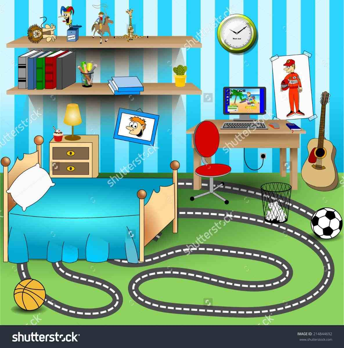 Clipart boys bedroom png black and white Boys Bedroom Cliparts 4 - 1185 X 1201 - Making-The-Web.com png black and white