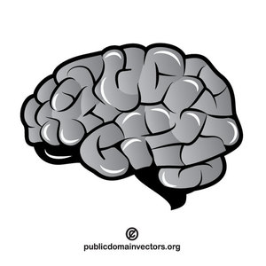 Clipart brain pictures banner black and white 194 brain free clipart | Public domain vectors banner black and white