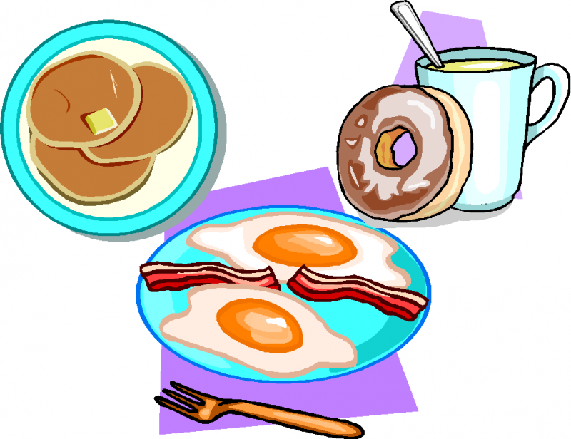 Free clipart continental breakfast food items