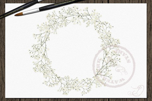 Clipart breath of life image stock Baby\'s Breath Watercolor Clipart image stock