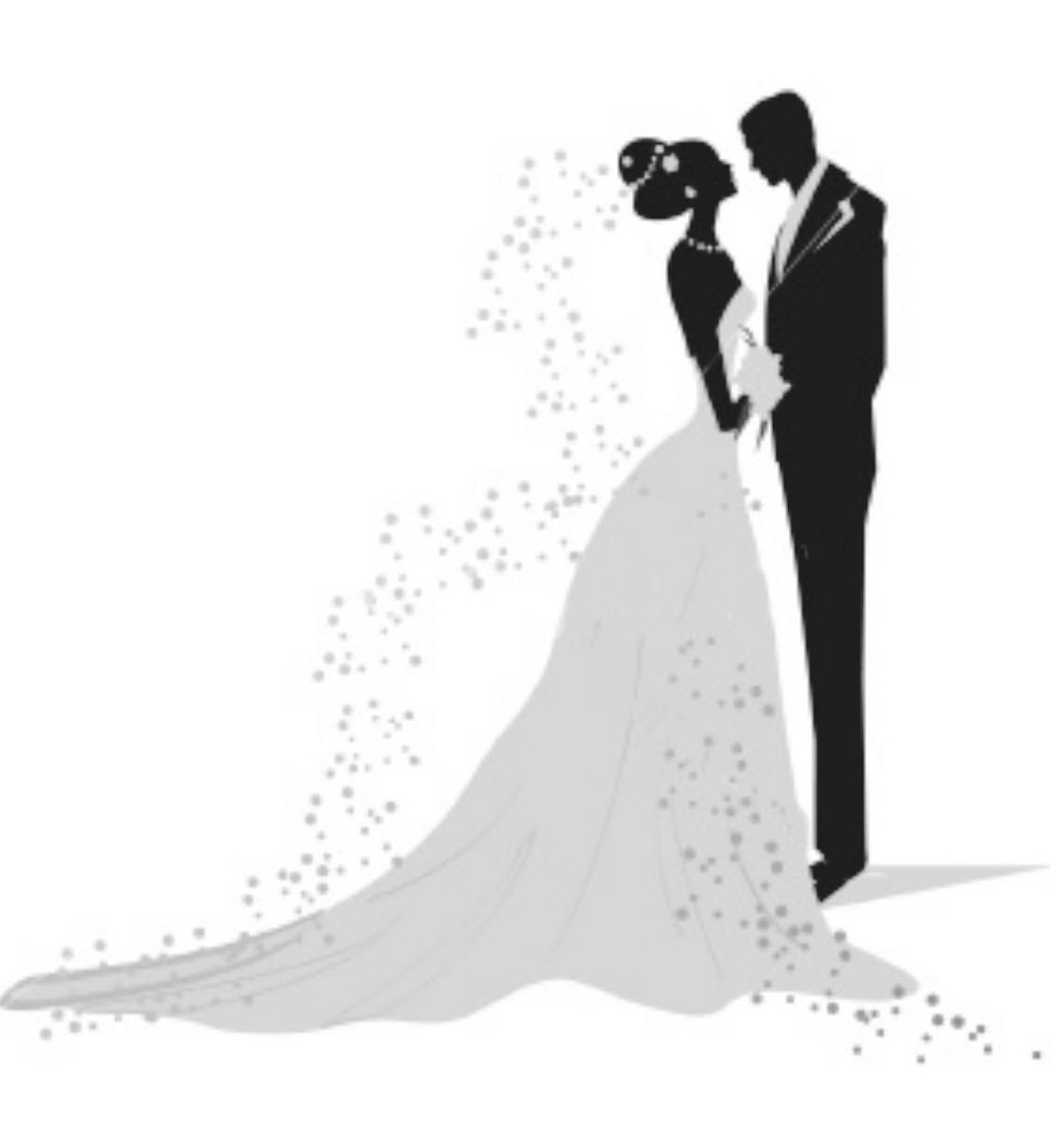 Clipart bride and groom silhouette clip art transparent library Bride and groom silhouette clipart black and white 9 » Clipart Station clip art transparent library