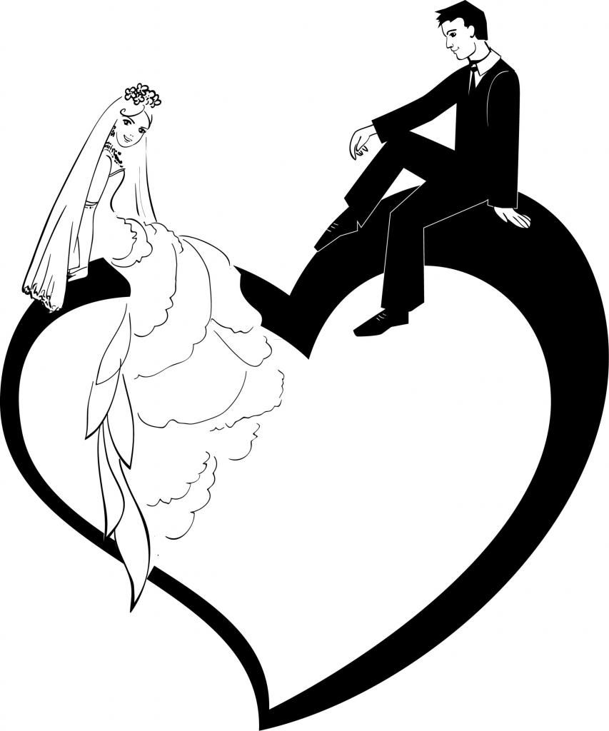 Clipart bride and groom silhouette svg free Bride and groom gallery for clip art bride silhouette | Decoupage ... svg free
