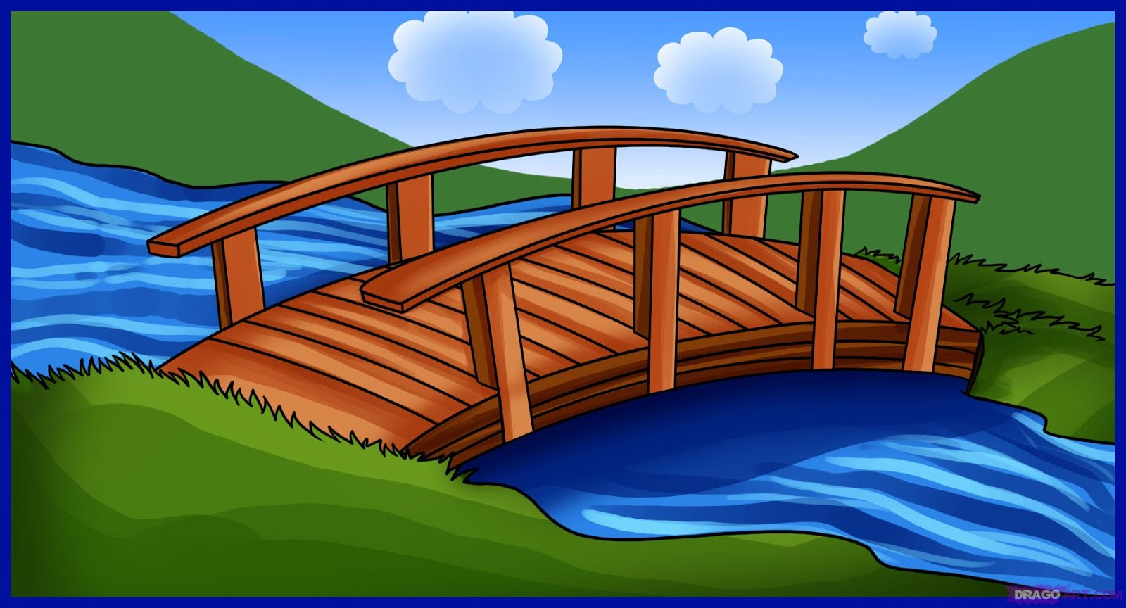Clipartfest free pictures. Clipart bridge over river