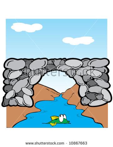 Clipart bridge over river graphic library library Bridge-over-river Stock Vectors & Vector Clip Art | Shutterstock graphic library library