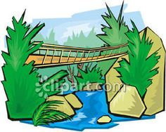 Clipart bridge over river png free Free Bridge Clipart Pictures - Clipartix png free