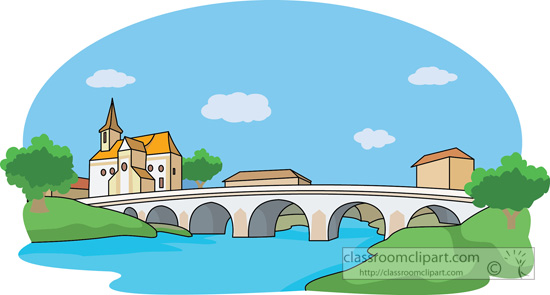 Clipart bridge over river image black and white stock Bridge Top View Clipart - Clipart Kid image black and white stock