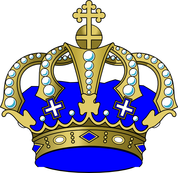 Crown boy clipart. Blue clip art at