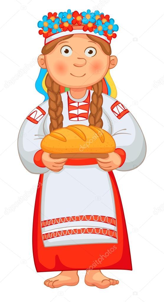 Clipart brot und salz transparent download Ukrainisch Mädchen trifft Ehrengäste mit Brot und Salz ... transparent download