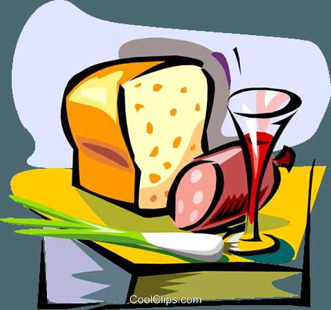 Clipart brot und wein royalty free Wein, Brot, Fleisch Vektor Clipart Bild -food0892-CoolCLIPS.com royalty free