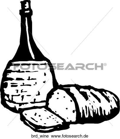 Clipart brot und wein clip art black and white library Clipart - brot u. wein brd_wine - Suche Clip Art, Illustration ... clip art black and white library