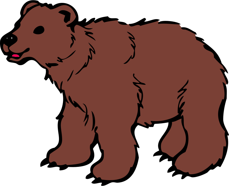 Clipart brown bear picture freeuse library Free Clipart: Young Brown Bear | qubodup picture freeuse library