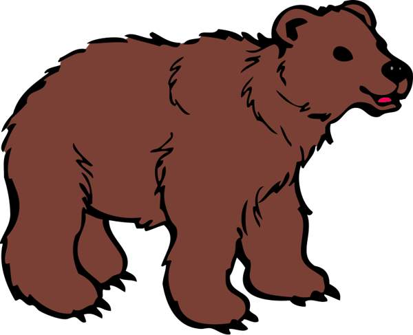 Clipart brown bear jpg black and white download Brown Bear Clipart Cwemi Gallery - Clipart1001 - Free Cliparts jpg black and white download