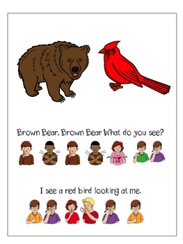 Clipart brown bear brown bear what do you see picture black and white stock Brown Bear, Brown Bear, What do you see? ASL Version picture black and white stock