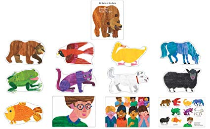Clipart brown bear brown bear what do you see stock Carson Dellosa Brown Bear, Brown Bear, What Do You See? Bulletin Board Set  (110134) stock