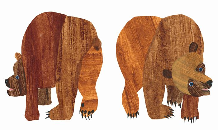Clipart brown bear brown bear what do you see svg black and white library Eric Carle Book: Brown Bear, Brown Bear, What Do You See? -childhood ... svg black and white library