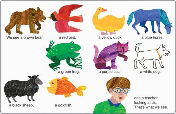 Clipart brown bear brown bear what do you see png royalty free stock Carson Dellosa Brown Bear, Brown Bear, What Do You See? Bulletin Board Set png royalty free stock