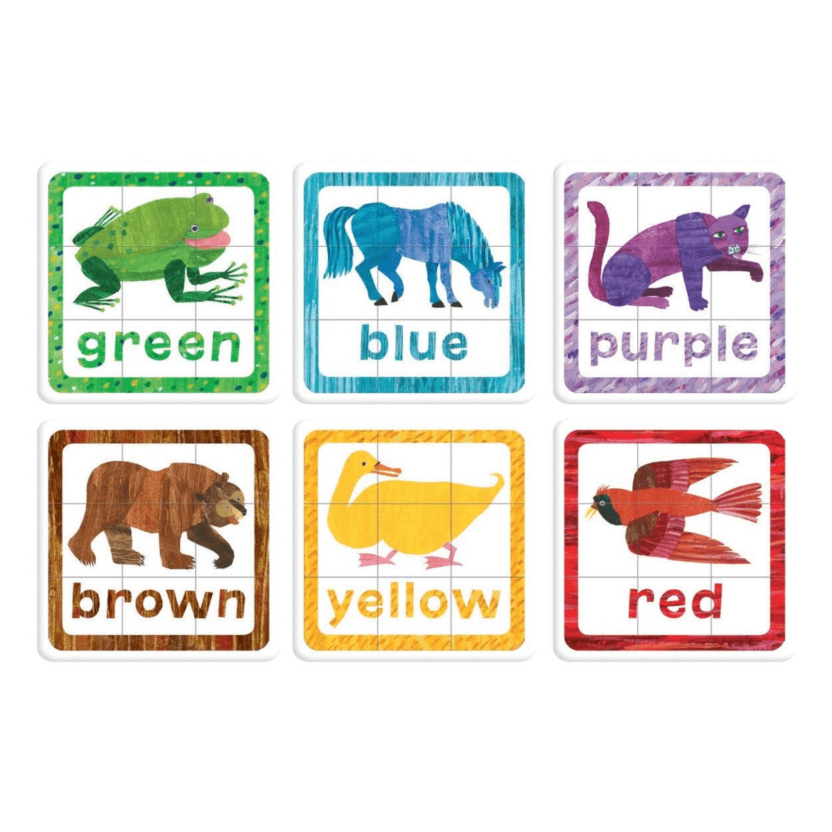 Clipart brown bear brown bear what do you see banner free stock The World Of Eric Carle Brown Bear, Brown Bear, What Do You See? Puzzle  Squares banner free stock