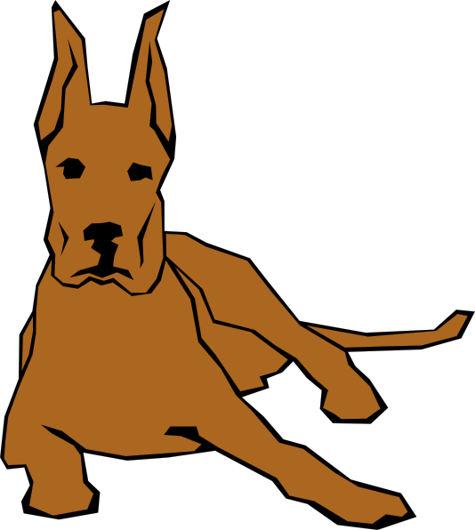 Great dane dog clipart